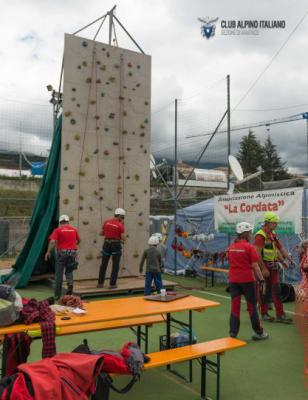 CAI Amatrice - Post sisma: ARRAMPICAMPO