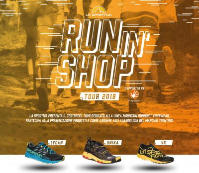 Run In Shop: ad aprile, test tour La Sportiva per il Running