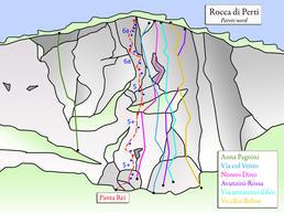 Rocca di Perti - Parete Nord - <a href=