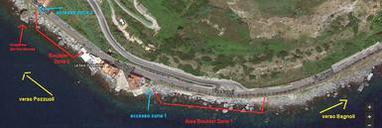 cartina settori pozzuoli boulders - google maps