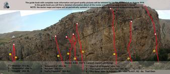 Mappa delle vie - Up the rocks