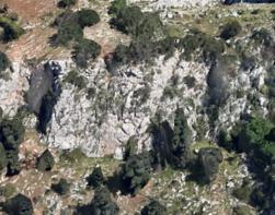 Vista della parete - Google Earth
