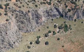 Parete di Apecheronza - Google Earth