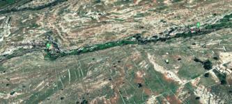 Castelluccio - i 2 settori - Google Earth
