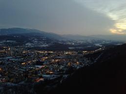 """Vista del paese dalla cima della via """"uno"""". - Saf"""