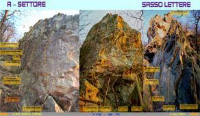 1° settore in entrata al parco d'arrampicata - poretti gius