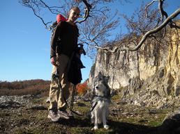 Ugo con me in perlustrazione presso Sasso Simone 2009 - Foto di Barbara Busetti
