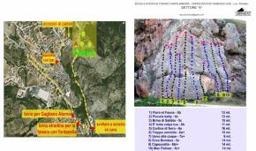 Posizione  settore ed elenco vie - settore A - Andrea Di Febbo - AbruzzoVertical