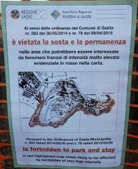 Divieto di accesso - Comune di Gaeta