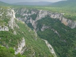 The Verdon river from the Maline - Rikly