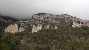 settori falesia del monaco  da sinistra muro rosso , muro grigio , muro verde ,muro giallo - Francesco Sorgente
