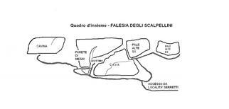 Quadro d'insieme - Falesia degli Scalpellini - ciacci
