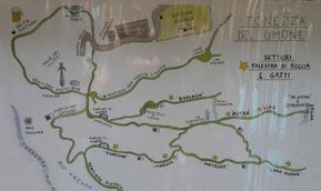 Mappa settori - Gruppo Roccia 4 Gatti