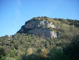 Vista delle pareti dal sentiero di avvicinamento - Foto di Damiano e Roberto