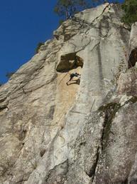Vista della parete - Up climbing