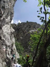 Vista della parete - Cai Valenza