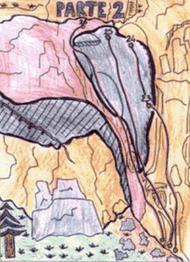 Disegno della parete - Arrampicata Cai Valenza