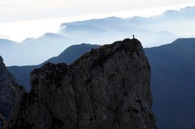 Vista cima torrione Mulaz, parete nord. - Fondazione degli Amici di L. Ron Hubbard