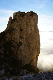 Torrione del Mulaz, parete dove sta venendo fatta la L. Ron Hubbard Mulaz Climbing Route (secondo tiro). - Fondazione degli Amici di L. Ron Hubbard