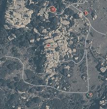 Mappa dei blocchi del Prato dx - La Sportiva