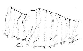 Schizzo delle vie - Guide Monterosa