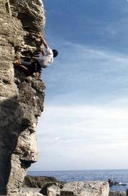 Vista della parete - Camping la Sfinge