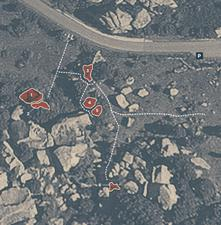 Mappa dei blocchi di Grottini - La Sportiva