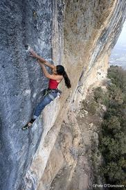 Daila Ojeda China Crisis, 8b+ - up-climbing