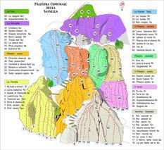 Mappa settori e tiri - Guide alpine comune di Sondrio