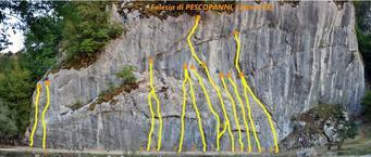 """Falesia """"Pescopanni"""" Letino (CE) Palestra di arrampicata sportiva Altitudine: m. 990 slm gradi difficoltà da 5b a 7c - http://www.stefanodati.com/dblog/"""