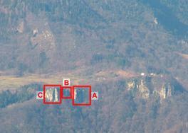 vista generale della parete e dei settori - foto Adriano Lista