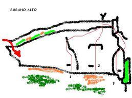 Schizzo di Susano Alto - susanoclimbing