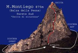 Versante sud Monte Montiego - Cai Rimini