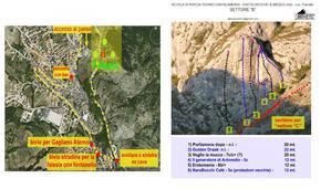 Posizione settore ed elenco vie - settore B - Andrea Di Febbo - AbruzzoVertical