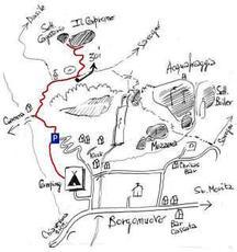 Accesso alla Falesia del Caprone - Campeggio acqua fraggia
