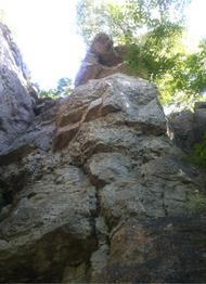 View of the crag - uk climbing