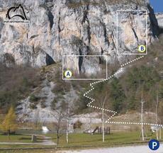 Vista della parete e dei due settori - Trenitno Experience