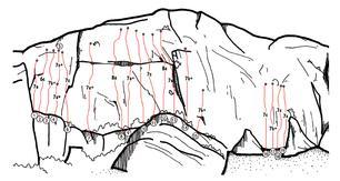 Mappa delle vie - upclimbing.com