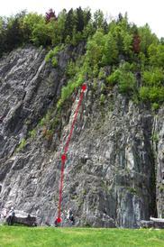 Vista della parete - Climbos