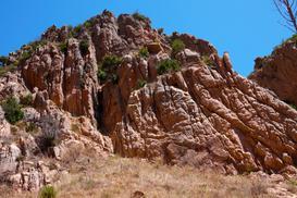 Vista della parete - Arrampicata in Sardegna